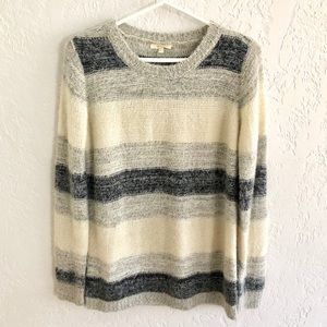 Anthro Mystree Soft Marled Striped Sweater S